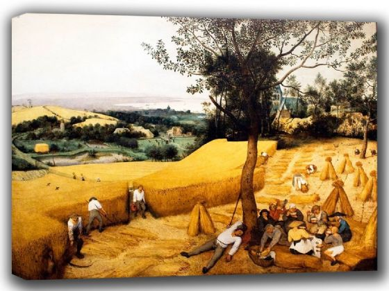 Bruegel the Elder, Pieter: The Harvesters. Fine Art Canvas. Sizes: A4/A3/A2/A1 (002006)